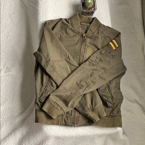 AE Army Green Bomber Lightweight Spring Jacket